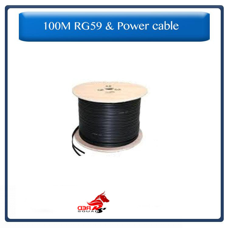 RG59 & Power cable for CCTV camera's, 100 Meters