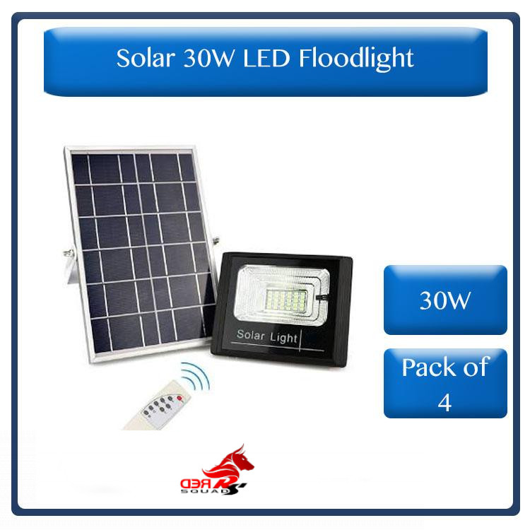 * Pack of 4 * Solar 30W LED Flood Light with remote control (R850 each)