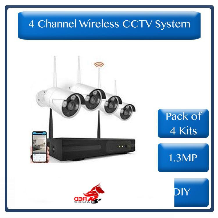 * Pack of 4 kits* Wireless 4 Channel HD NVR Kit - DIY ( R3000 each )